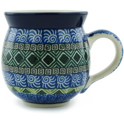 Polish Pottery 12 oz Bubble Mug | Boleslawiec Stoneware | Polmedia H0154I