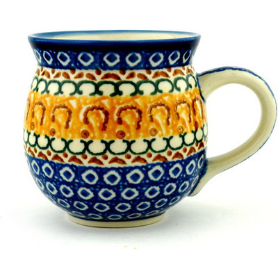 Polish Pottery 12 oz Bubble Mug | Boleslawiec Stoneware | Polmedia H9410A