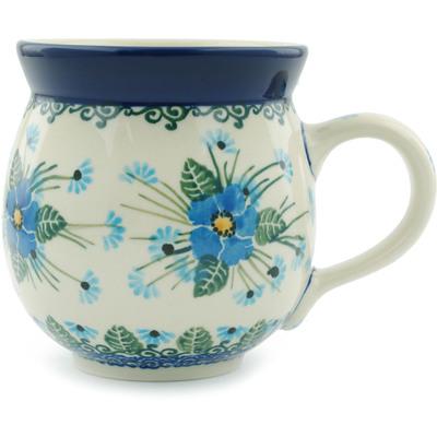 Polish Pottery 12 oz Bubble Mug | Boleslawiec Stoneware | Polmedia H0676I