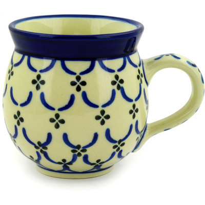 Polish Pottery 12 oz Bubble Mug | Boleslawiec Stoneware | Polmedia H4186D