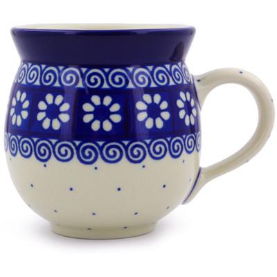 Polish Pottery 12 oz Bubble Mug | Boleslawiec Stoneware | Polmedia H6323B