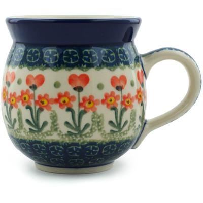 Polish Pottery 12 oz Bubble Mug | Boleslawiec Stoneware | Polmedia H3183A