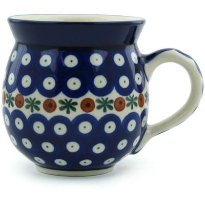 Polish Pottery 12 oz Bubble Mug | Boleslawiec Stoneware | Polmedia H3199A
