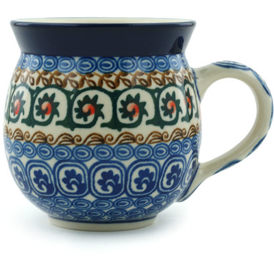 Polish Pottery 12 oz Bubble Mug | Boleslawiec Stoneware | Polmedia H0858B