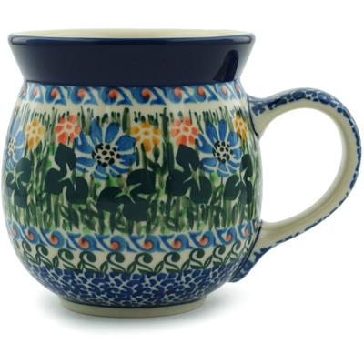 Polish Pottery 16 oz Bubble Mug | Boleslawiec Stoneware | Polmedia H5198I