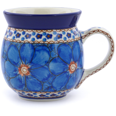 Polish Pottery 16 oz Bubble Mug | Boleslawiec Stoneware | Polmedia H3893I