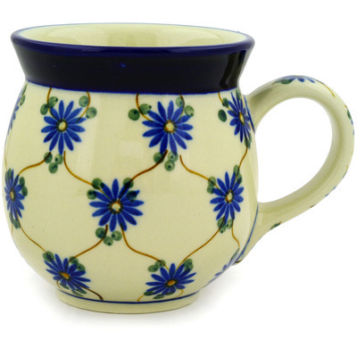 Polish Pottery 16 oz Bubble Mug | Boleslawiec Stoneware | Polmedia H7115A