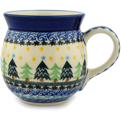 Polish Pottery 16 oz Bubble Mug   Boleslawiec Stoneware   Polmedia H8806C