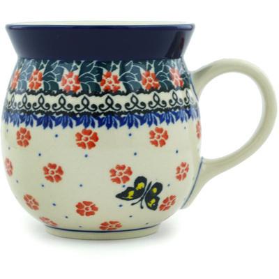 Polish Pottery 16 oz Bubble Mug | Boleslawiec Stoneware | Polmedia H6731H