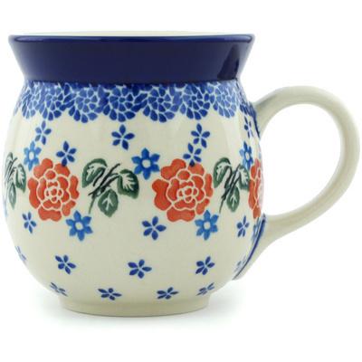 Polish Pottery 16 oz Bubble Mug | Boleslawiec Stoneware | Polmedia H6114H