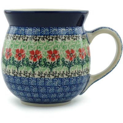 Polish Pottery 16 oz Bubble Mug | Boleslawiec Stoneware | Polmedia H9011H