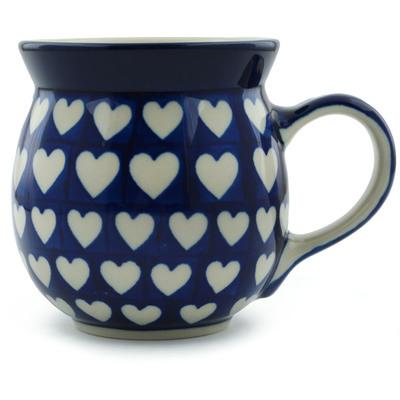 Polish Pottery 16 oz Bubble Mug   Boleslawiec Stoneware   Polmedia H0941I