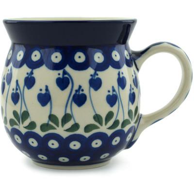 Polish Pottery 16 oz Bubble Mug | Boleslawiec Stoneware | Polmedia H6771B