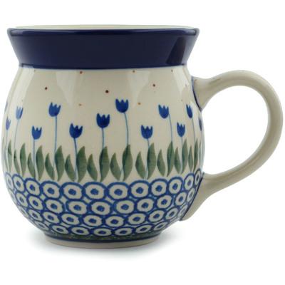 Polish Pottery 16 oz Bubble Mug | Boleslawiec Stoneware | Polmedia H1743I