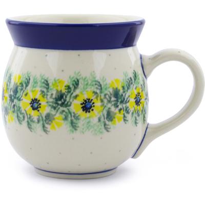 Polish Pottery 16 oz Bubble Mug | Boleslawiec Stoneware | Polmedia H4094B