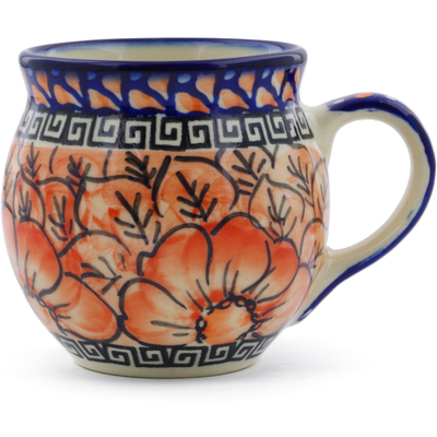 Polish Pottery 7 oz Bubble Mug | Boleslawiec Stoneware | Polmedia H7174E