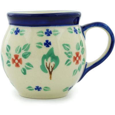 Polish Pottery 7 oz Bubble Mug | Boleslawiec Stoneware | Polmedia H8260H