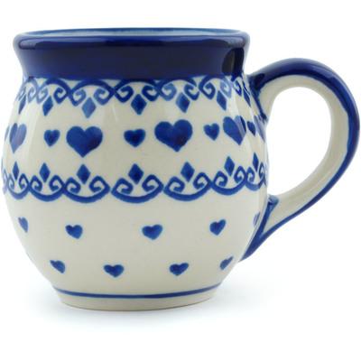 Polish Pottery 7 oz Bubble Mug | Boleslawiec Stoneware | Polmedia H9806H