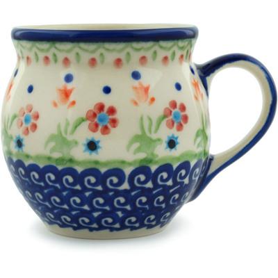 Polish Pottery 7 oz Bubble Mug | Boleslawiec Stoneware | Polmedia H3708E