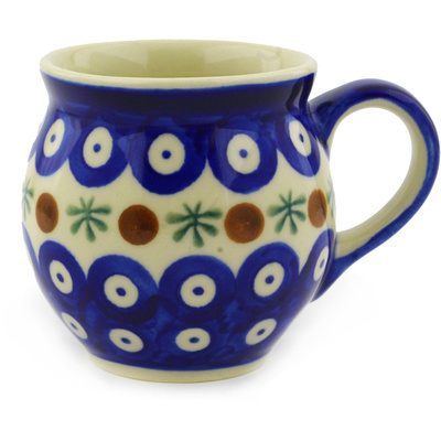 Polish Pottery 7 oz Bubble Mug | Boleslawiec Stoneware | Polmedia H5084F