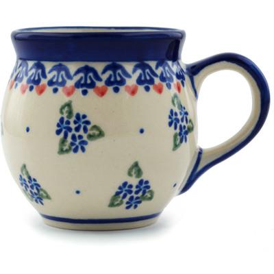 Polish Pottery 7 oz Bubble Mug | Boleslawiec Stoneware | Polmedia H9730H