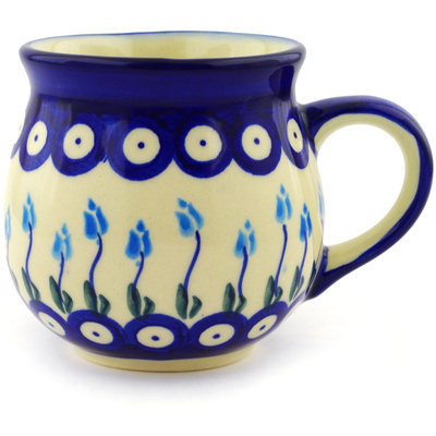 Polish Pottery 12 oz Bubble Mug | Boleslawiec Stoneware | Polmedia H1972G