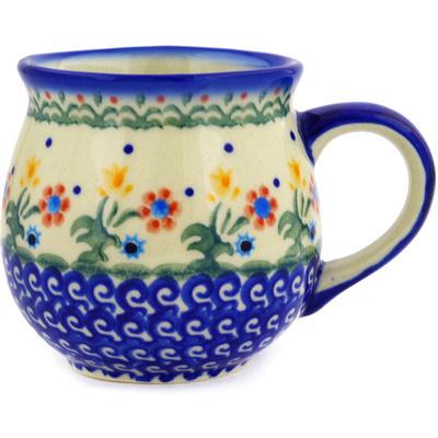 Polish Pottery 12 oz Bubble Mug | Boleslawiec Stoneware | Polmedia H3711E