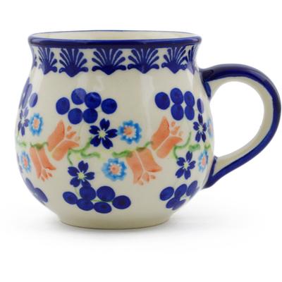 Polish Pottery 12 oz Bubble Mug | Boleslawiec Stoneware | Polmedia H7196E