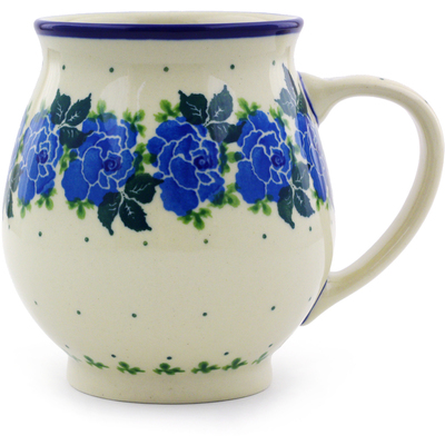 Polish Pottery 15 oz Bubble Mug | Boleslawiec Stoneware | Polmedia H6696I