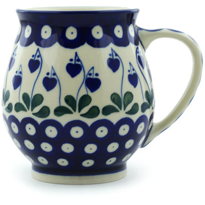 Polish Pottery 15 oz Bubble Mug | Boleslawiec Stoneware | Polmedia H8649H
