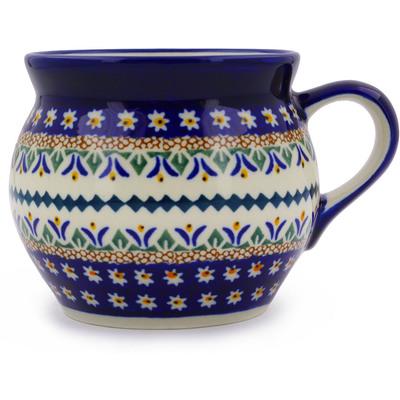 Polish Pottery 16 oz Bubble Mug | Boleslawiec Stoneware | Polmedia H1947C