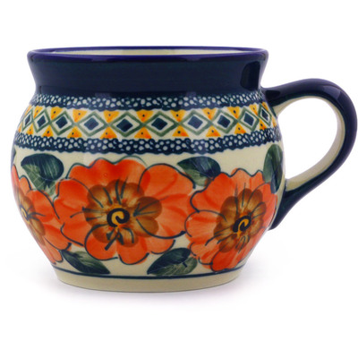 Polish Pottery 16 oz Bubble Mug | Boleslawiec Stoneware | Polmedia H8195A