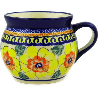 Polish Pottery 16 oz Bubble Mug | Boleslawiec Stoneware | Polmedia H5108D