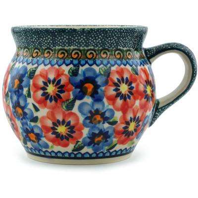 Polish Pottery 16 oz Bubble Mug | Boleslawiec Stoneware | Polmedia H3371C