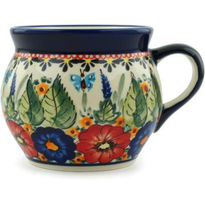 Polish Pottery 16 oz Bubble Mug | Boleslawiec Stoneware | Polmedia H8910B