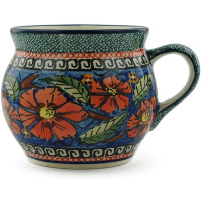 Polish Pottery 16 oz Bubble Mug | Boleslawiec Stoneware | Polmedia H6880C