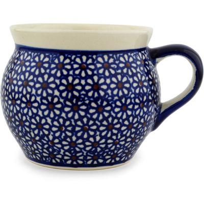 Polish Pottery 16 oz Bubble Mug | Boleslawiec Stoneware | Polmedia H6269C