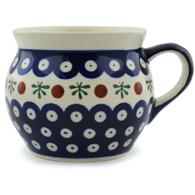 Polish Pottery 16 oz Bubble Mug | Boleslawiec Stoneware | Polmedia H0901A