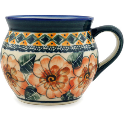 Polish Pottery 12 oz Bubble Mug | Boleslawiec Stoneware | Polmedia H6268C