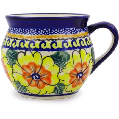 Polish Pottery 12 oz Bubble Mug | Boleslawiec Stoneware | Polmedia H3369C