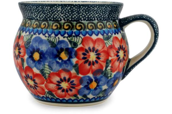 Polish Pottery 12 Oz Bubble Mug Boleslawiec Stoneware