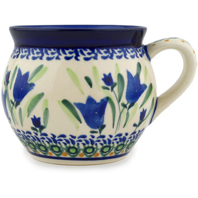 Polish Pottery 12 oz Bubble Mug | Boleslawiec Stoneware | Polmedia H7299C