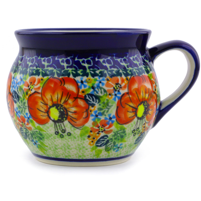 Polish Pottery 12 oz Bubble Mug | Boleslawiec Stoneware | Polmedia H4354I