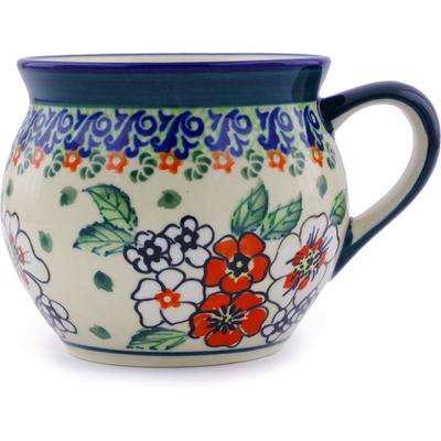 Polish Pottery 12 oz Bubble Mug | Boleslawiec Stoneware | Polmedia H4355I