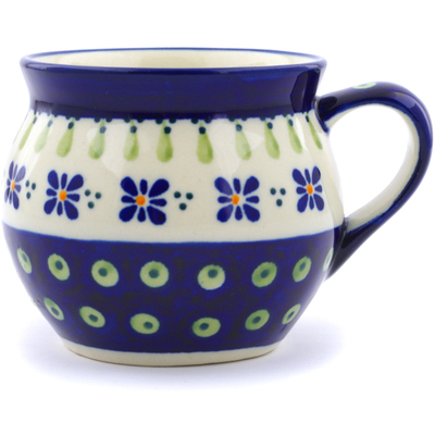 Polish Pottery 12 oz Bubble Mug | Boleslawiec Stoneware | Polmedia H3321C