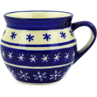 Polish Pottery 12 oz Bubble Mug | Boleslawiec Stoneware | Polmedia H9486D