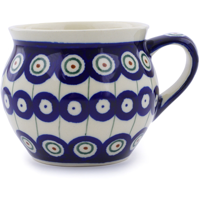 Polish Pottery 12 oz Bubble Mug | Boleslawiec Stoneware | Polmedia H4882C