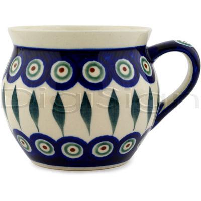 Polish Pottery 12 oz Bubble Mug | Boleslawiec Stoneware | Polmedia H0917A