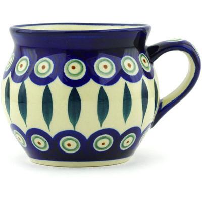 Polish Pottery 12 oz Bubble Mug | Boleslawiec Stoneware | Polmedia H0918A