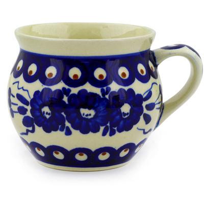 Polish Pottery 12 oz Bubble Mug | Boleslawiec Stoneware | Polmedia H9146D
